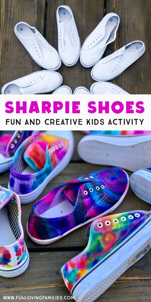 Sharpie shoes craft for kids