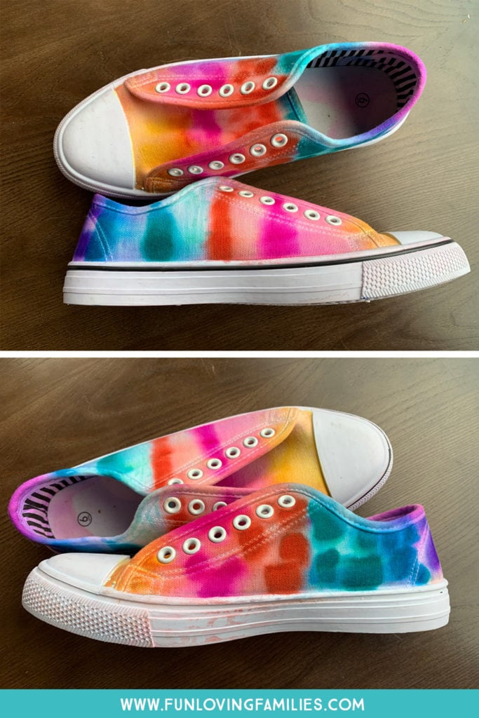 colorful rainbow shoes