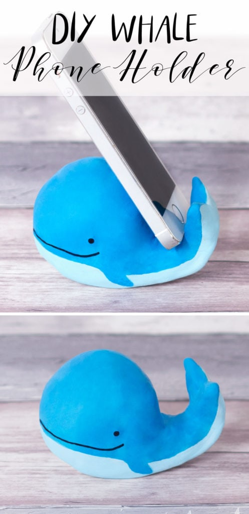 blue whale phone holder
