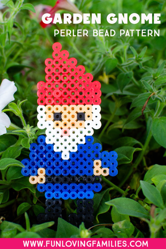garden gnome made from fuse beads