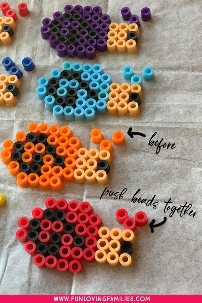 melty bead snail tutorial