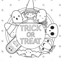 4 Halloween Coloring Pages (Free Printables)