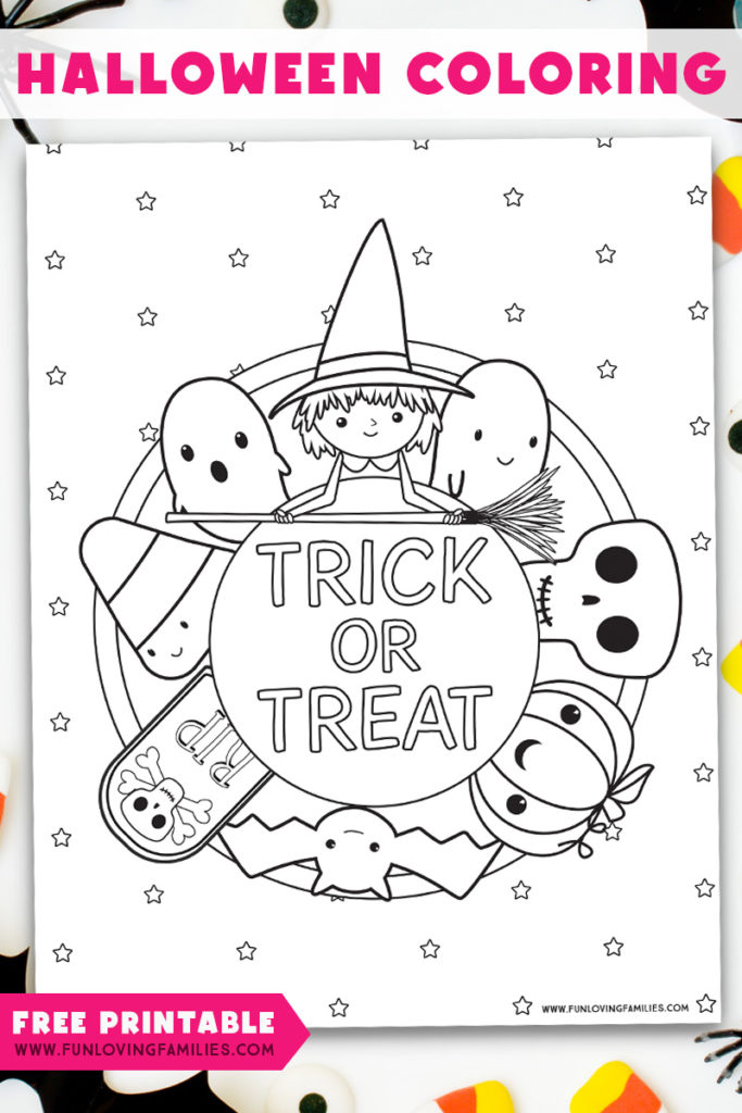 Halloween Coloring Pages Free Printables Fun Loving Families