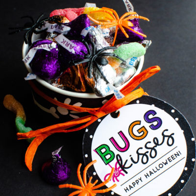 Bugs and Kisses DIY Halloween Party Favors