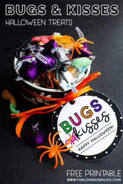 image regarding Bugs and Kisses Printable called Insects and Kisses Do it yourself Halloween Occasion Favors - Exciting Loving People