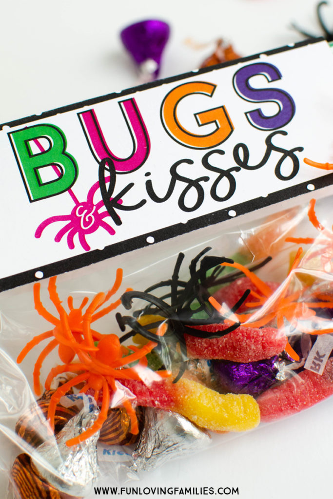 photo regarding Bugs and Kisses Printable named Insects and Kisses Do it yourself Halloween Bash Favors - Entertaining Loving People