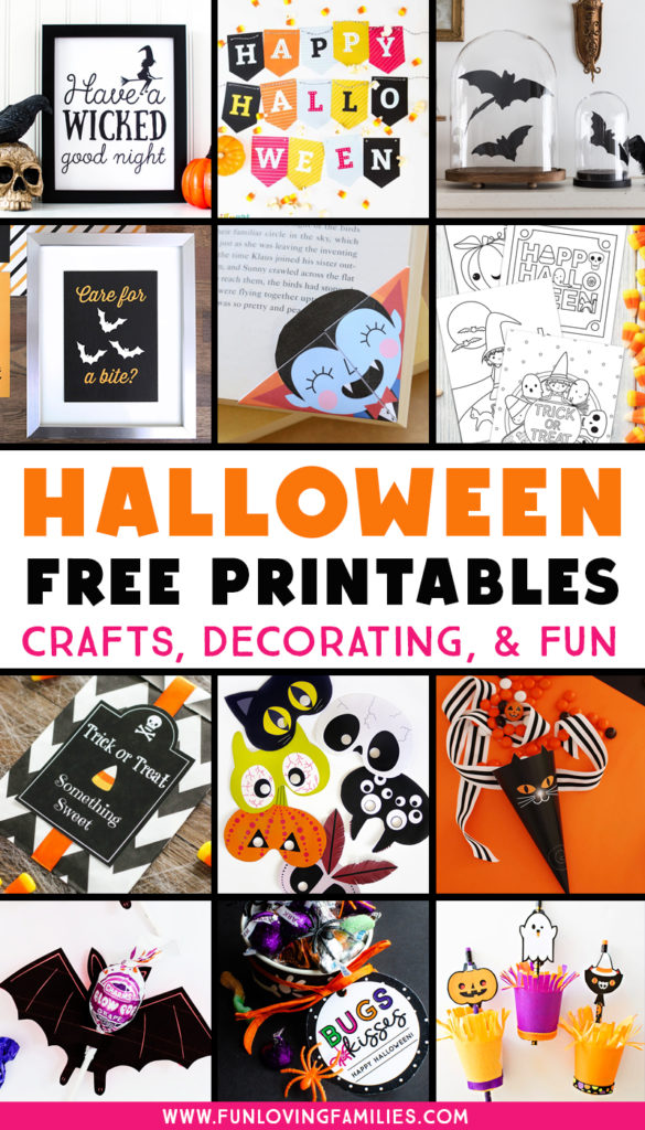 free Halloween printables for parties, crafts, and decorations