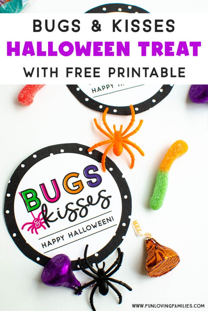 picture relating to Bugs and Kisses Printable called Insects and Kisses Do-it-yourself Halloween Social gathering Favors - Entertaining Loving People