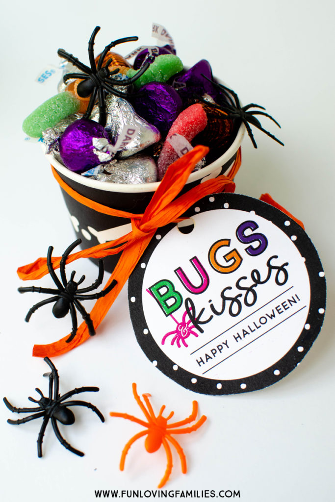 photograph about Bugs and Kisses Printable called Insects and Kisses Do it yourself Halloween Social gathering Favors - Entertaining Loving Households
