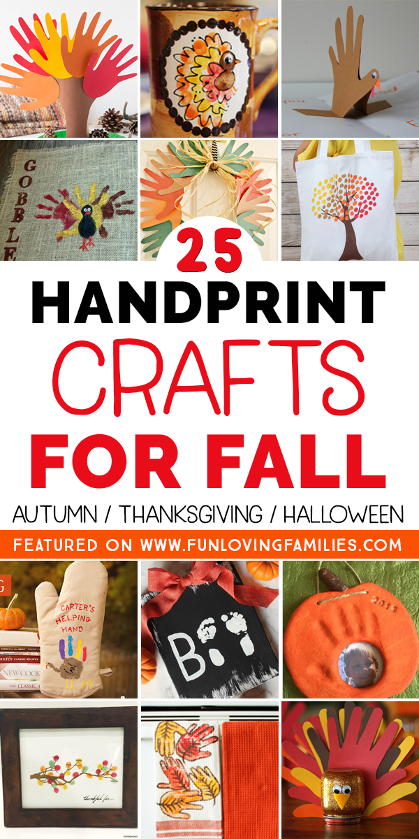 kids handprint crafts for fall