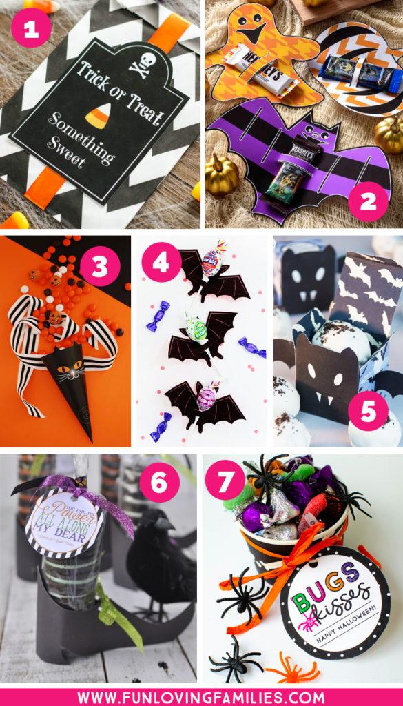 Free printable Halloween party favor ideas