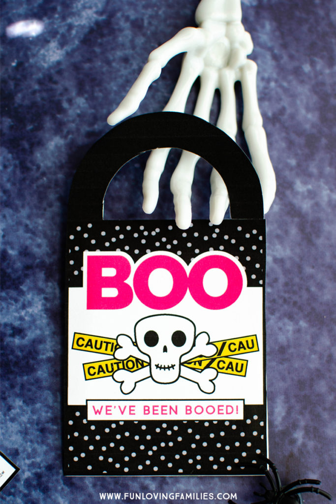 We've Been Booed door hanger free printable.