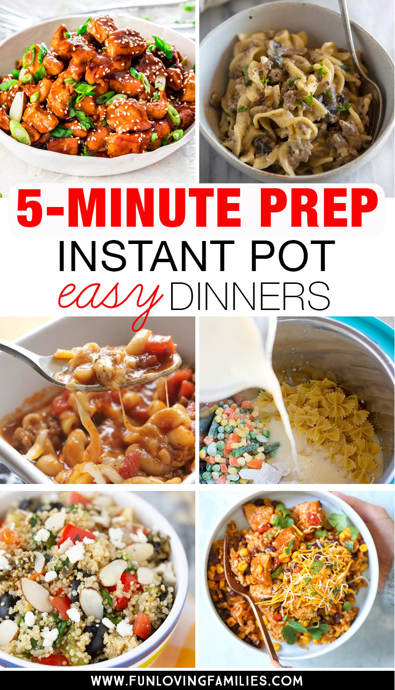 5-minute prep instant pot easy dinners