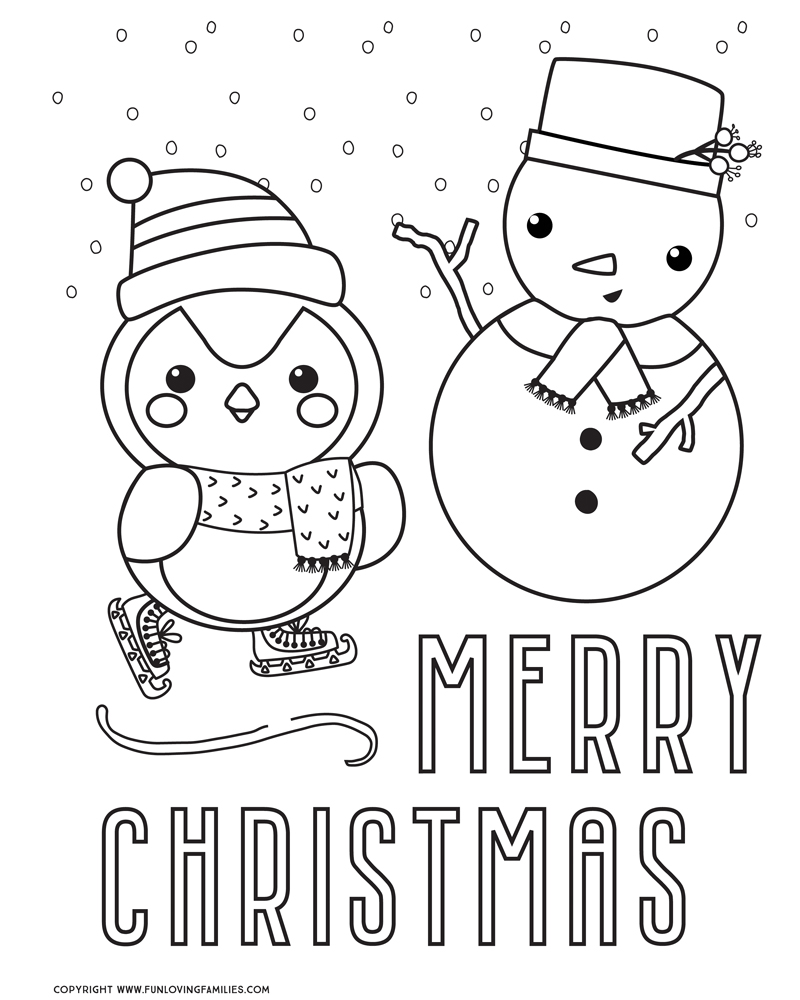 It is a graphic of Zany Free Printable Cute Christmas Coloring Pages