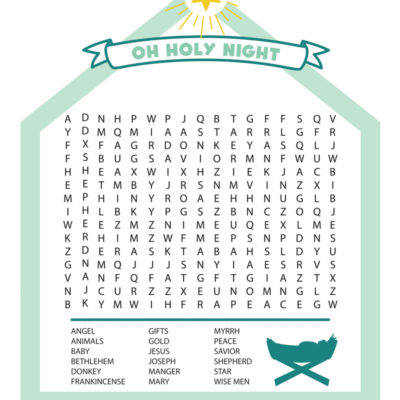 Nativity Word Search Printable