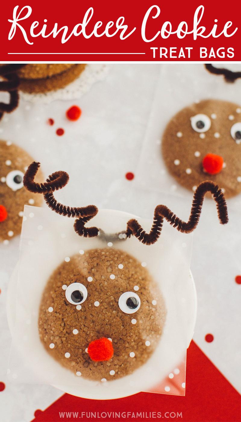Reindeer cookie treat bags DIY