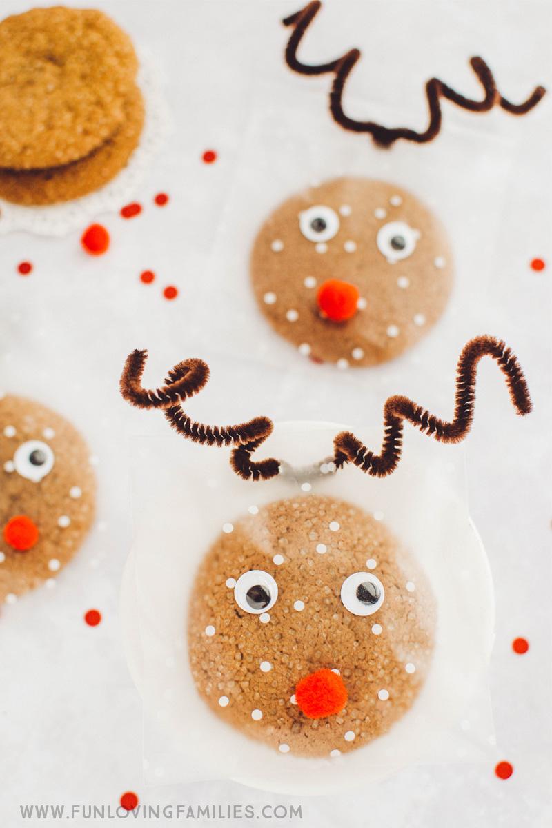 reindeer cookie treat bag ideas for christmas