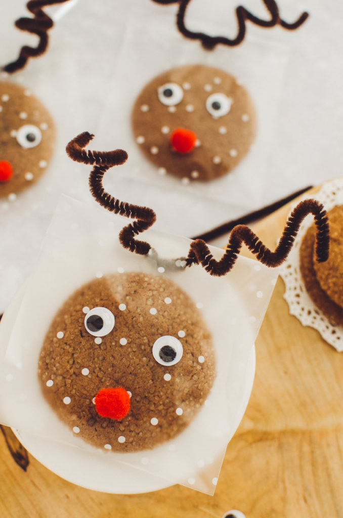 DIY reindeer Christmas treat bags