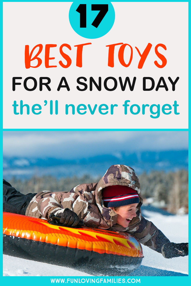 Best snow toys with boy riding snow tube
