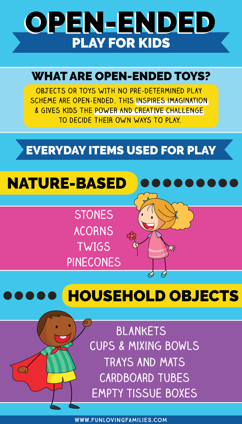 Examples of open-ended toys for kids you can find around the house