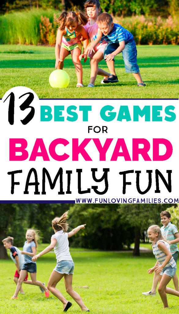 kids playing yard games