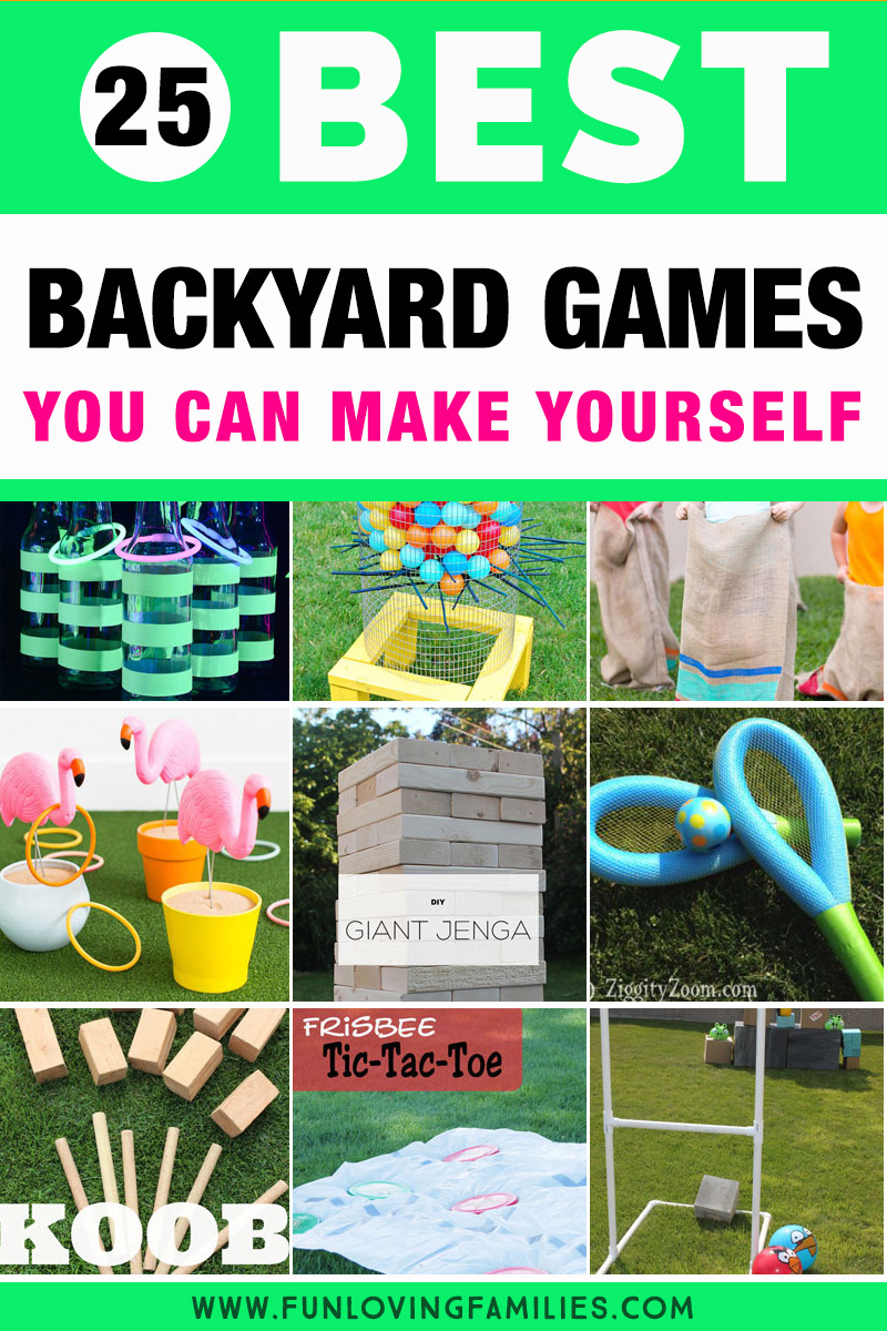 25 Diy Backyard Party Games For Family Fun Fun Loving Families