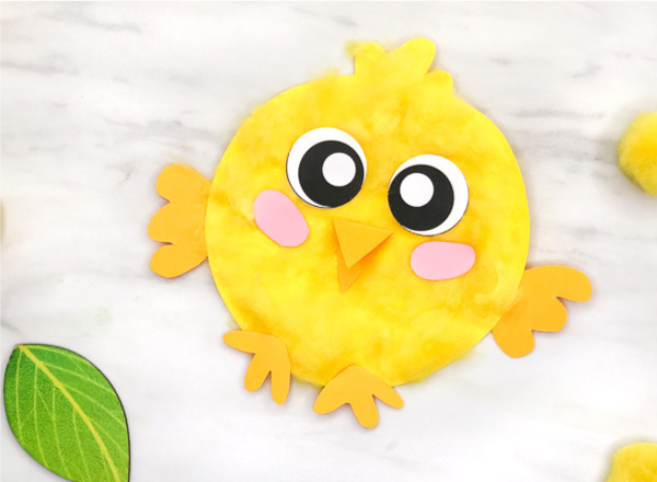 baby chick paper plate spring craft for kids