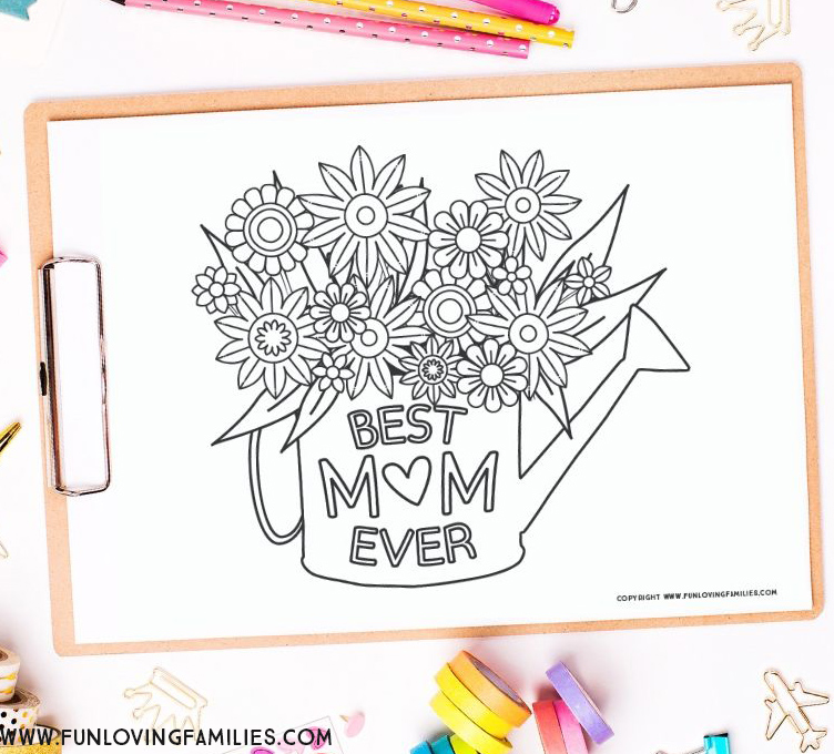 Mother's day coloring pages with Best Mom Ever