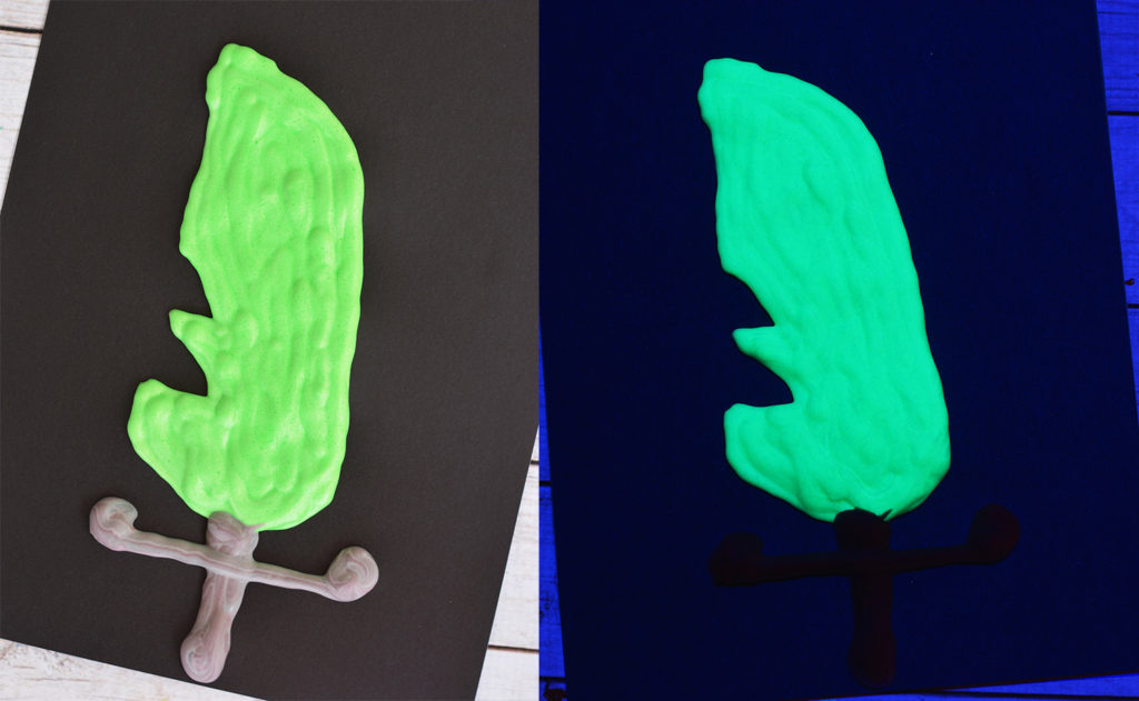diy glow in the dark puffy paint