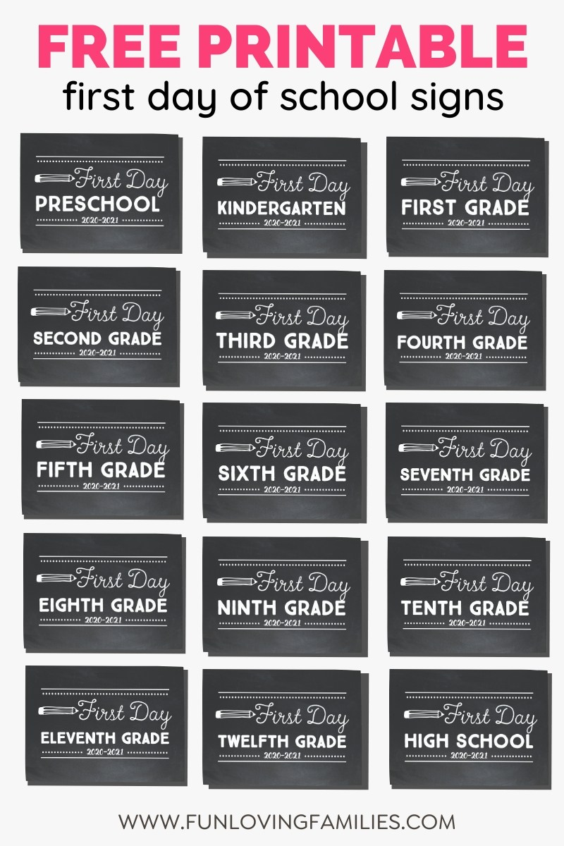 set of chalkboard signs for school pictures 2020