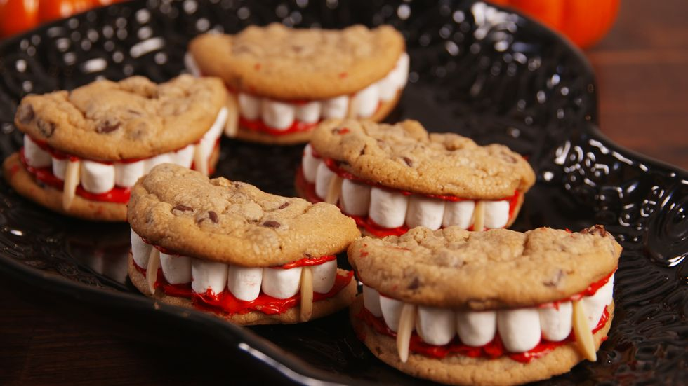 platter of dracula mouth cookies