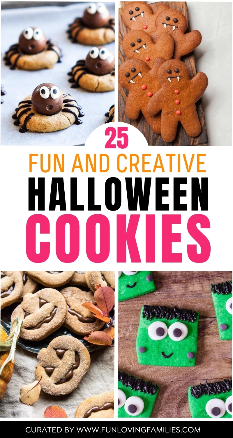 four different halloween cookie ideas