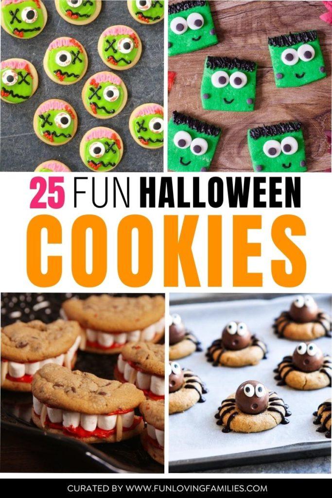 fun halloween cookies with 4 cookie ideas