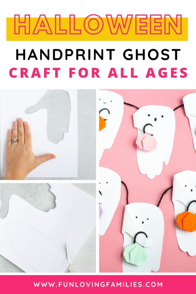 halloween handprint ghost craft for kids