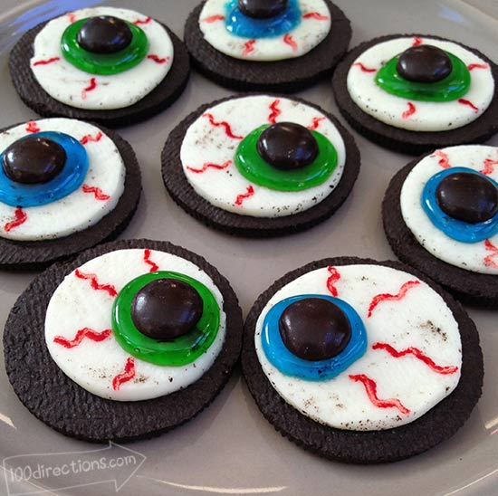 platter of oreo eyeball cookies