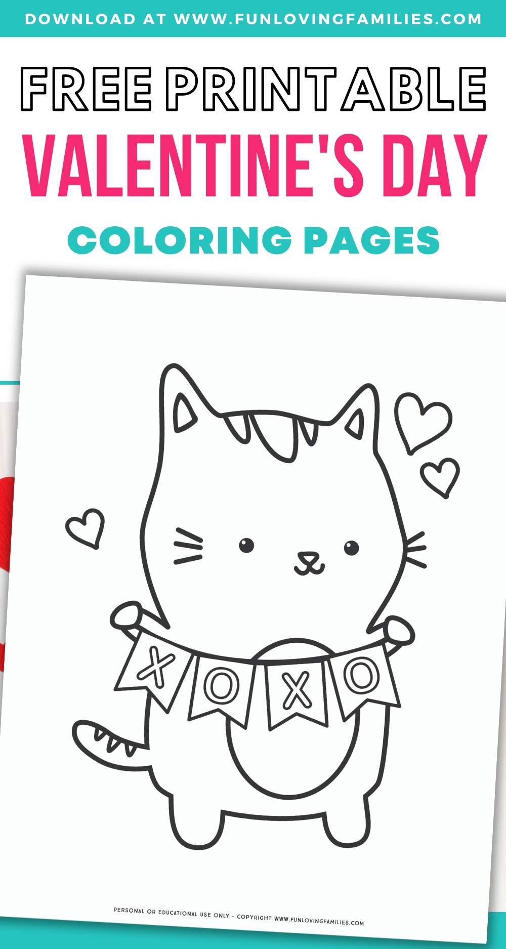 cute Valentine's Day coloring pages for kids