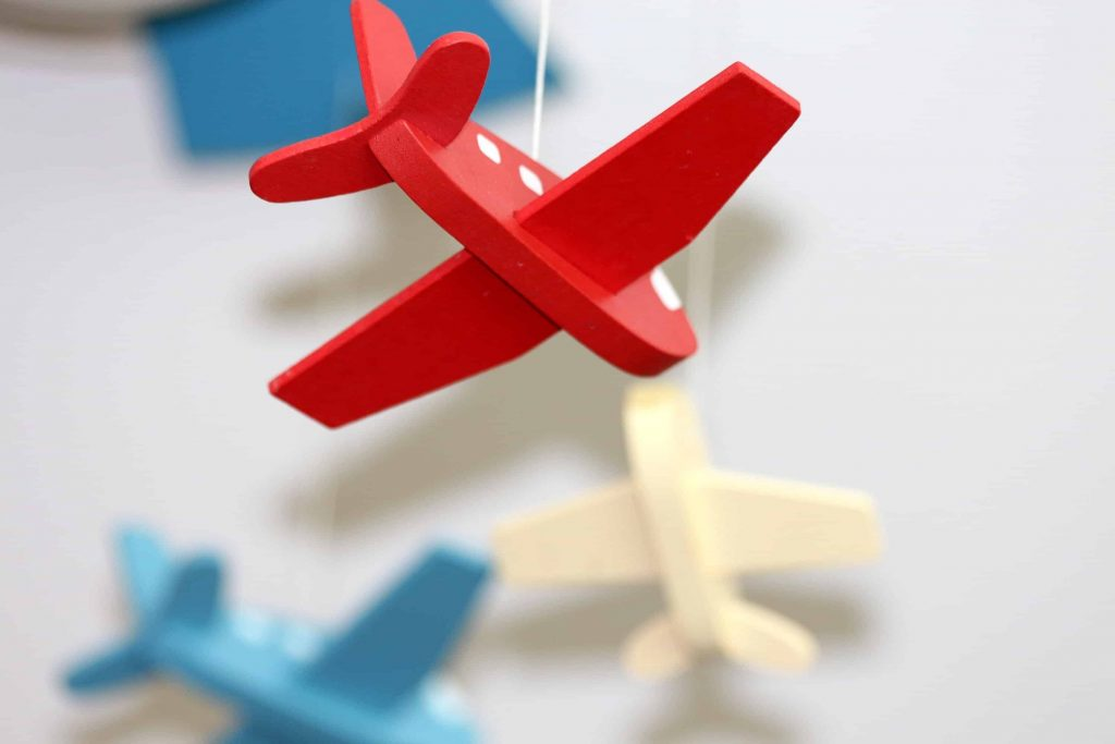 Wooden airplane toys for toddlers and preschoolers