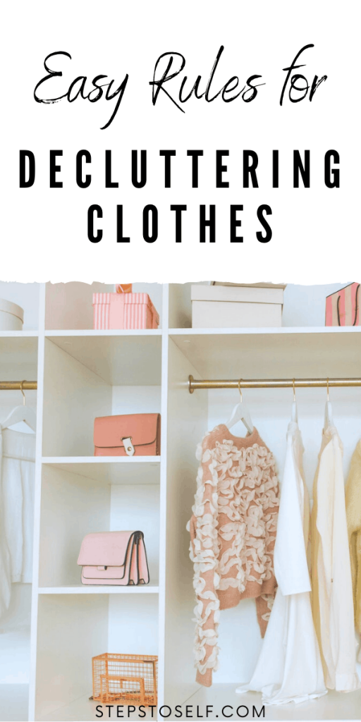 Easy rules for decluttering clothes