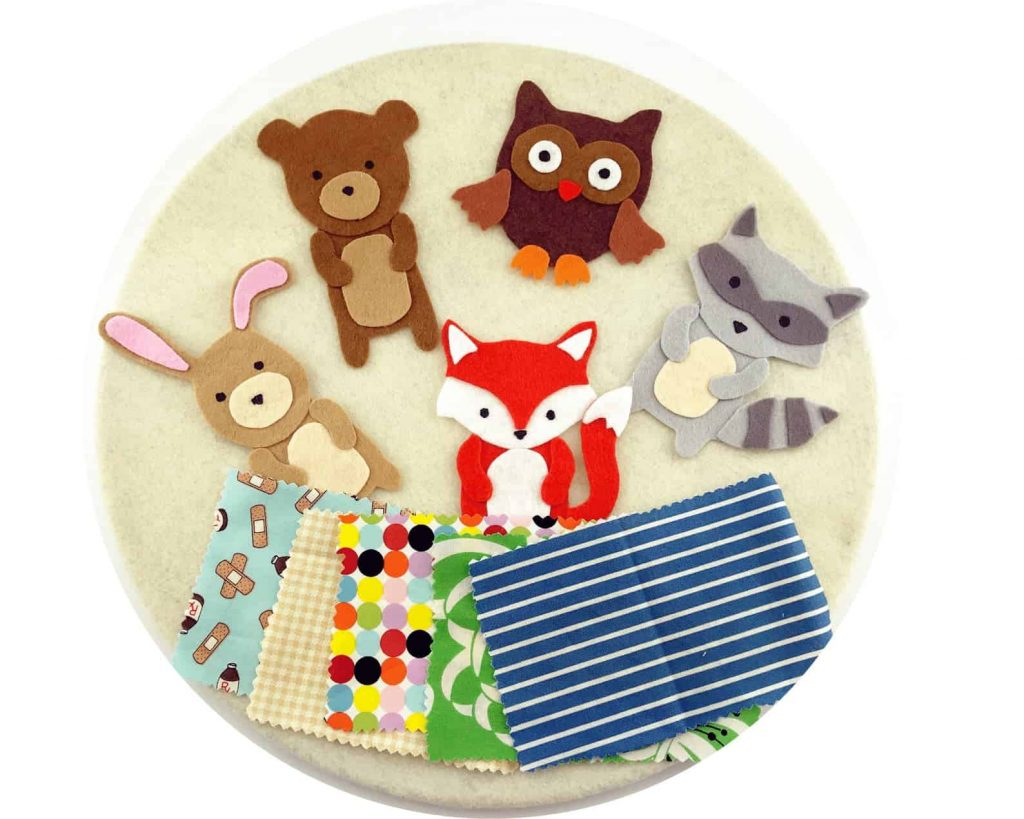 Felt animal busy board for toddlers