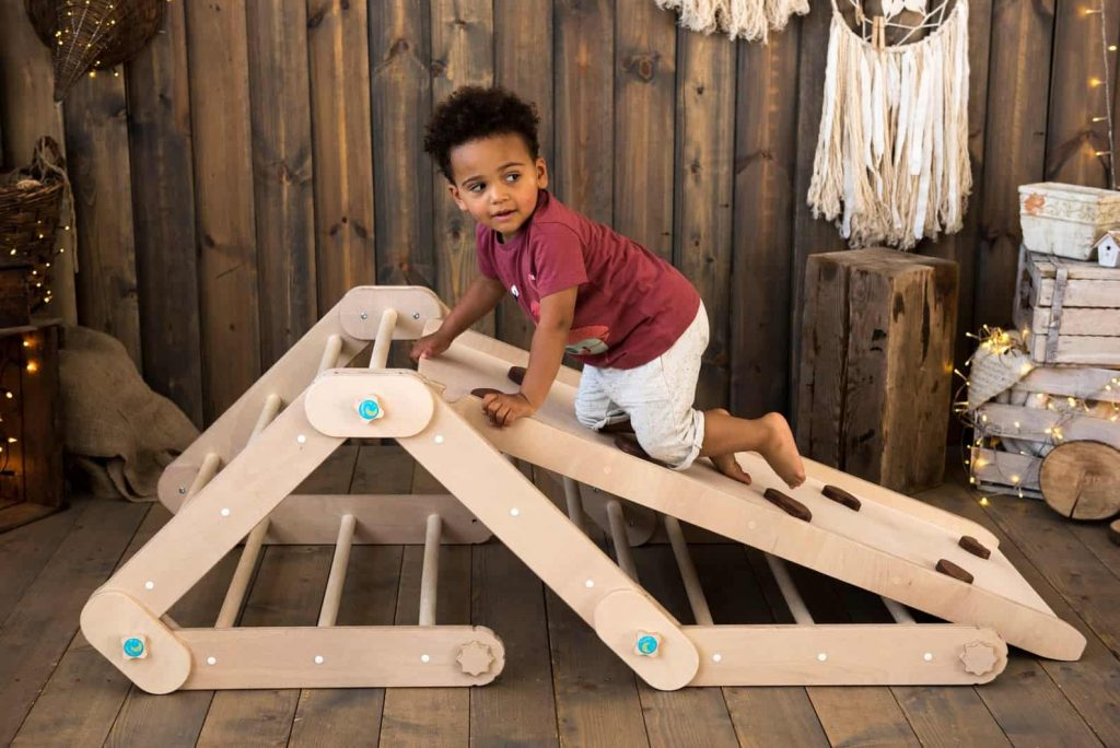 Handmade configurable indoor climbing toy for toddlers