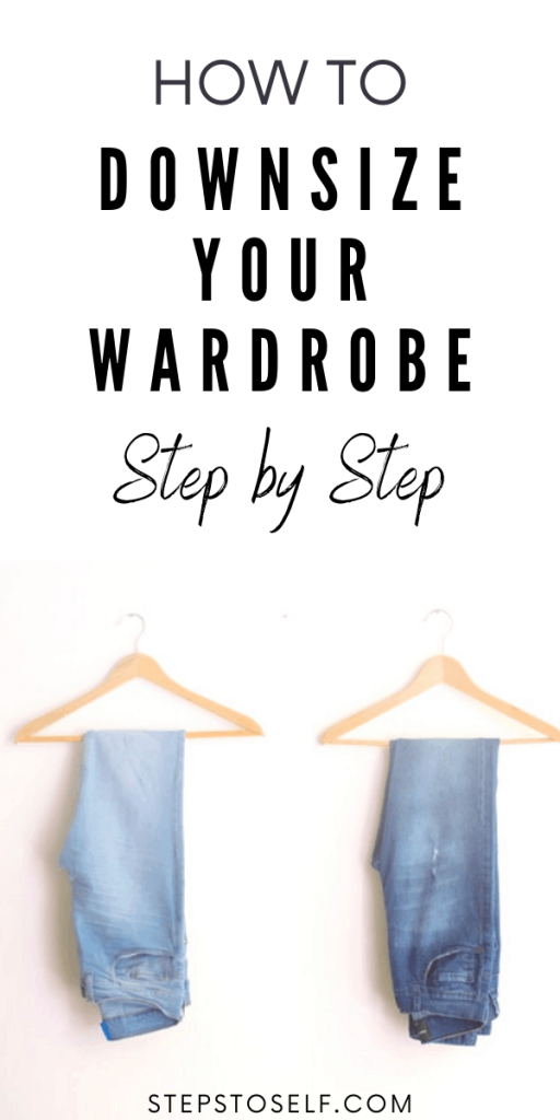 How to downsize your wardrobe step by step