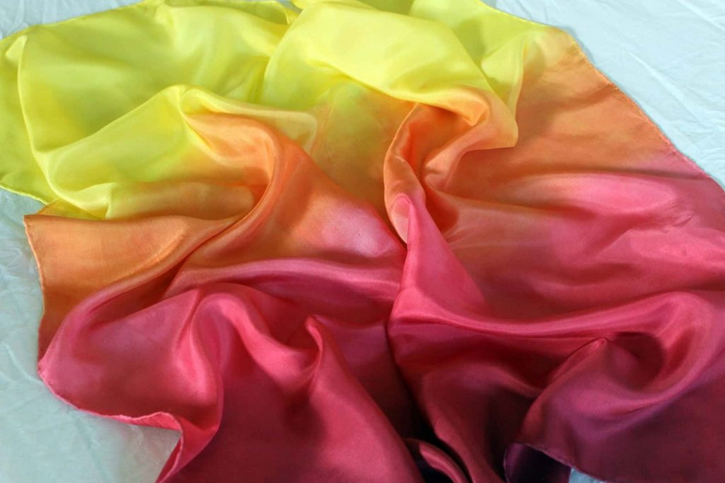 Play silk scarf for toddlers and preschoolers