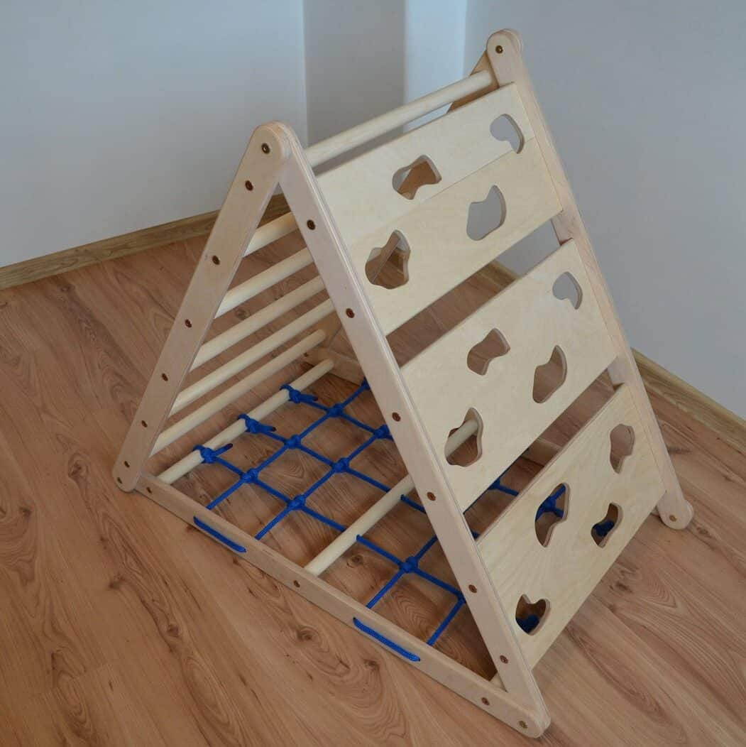 Pikler triangle climbing toy for toddlers