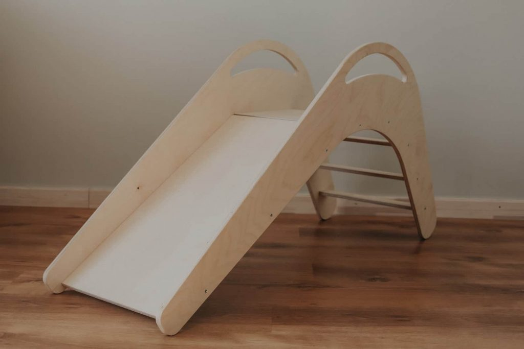 Wooden indoor slide for toddlers
