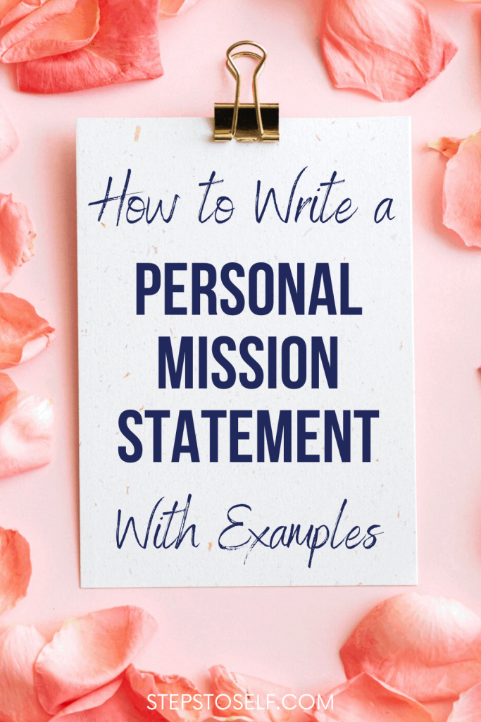 How to write a personal mission statement with examples